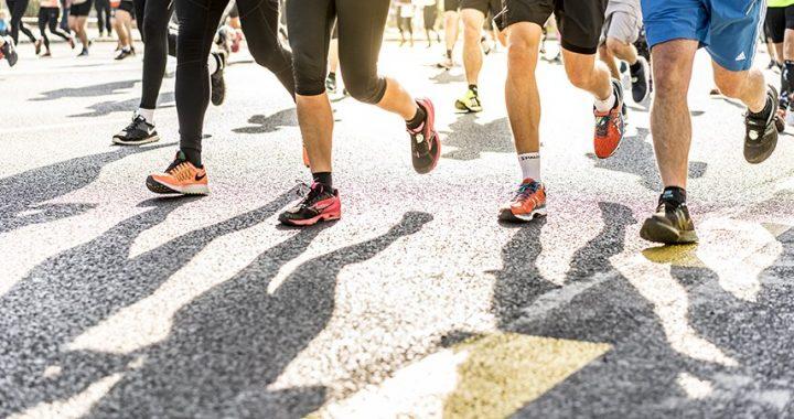 Do men shave their legs for sport? This photo of men running demonstrates