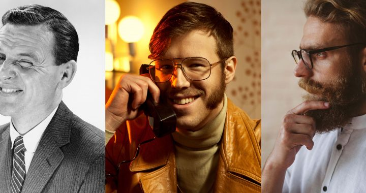 Men with different facial hair styles